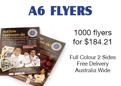 1000 flyers  for $184.21  Full Colour 2 Sides Free Delivery Australia Wide